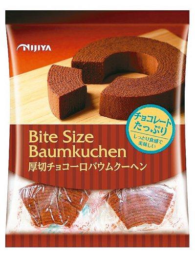 日本NIJIYA巧克力年輪蛋糕,巧克力濃郁且香氣十足。 圖/7-ELEVEn提供