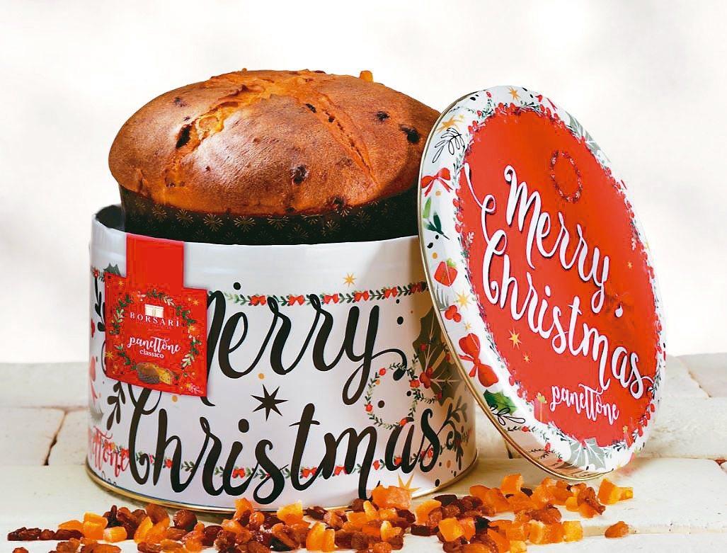 耶誕鐵盒耶誕麵包(1kg),定價1600元。 圖/微風提供