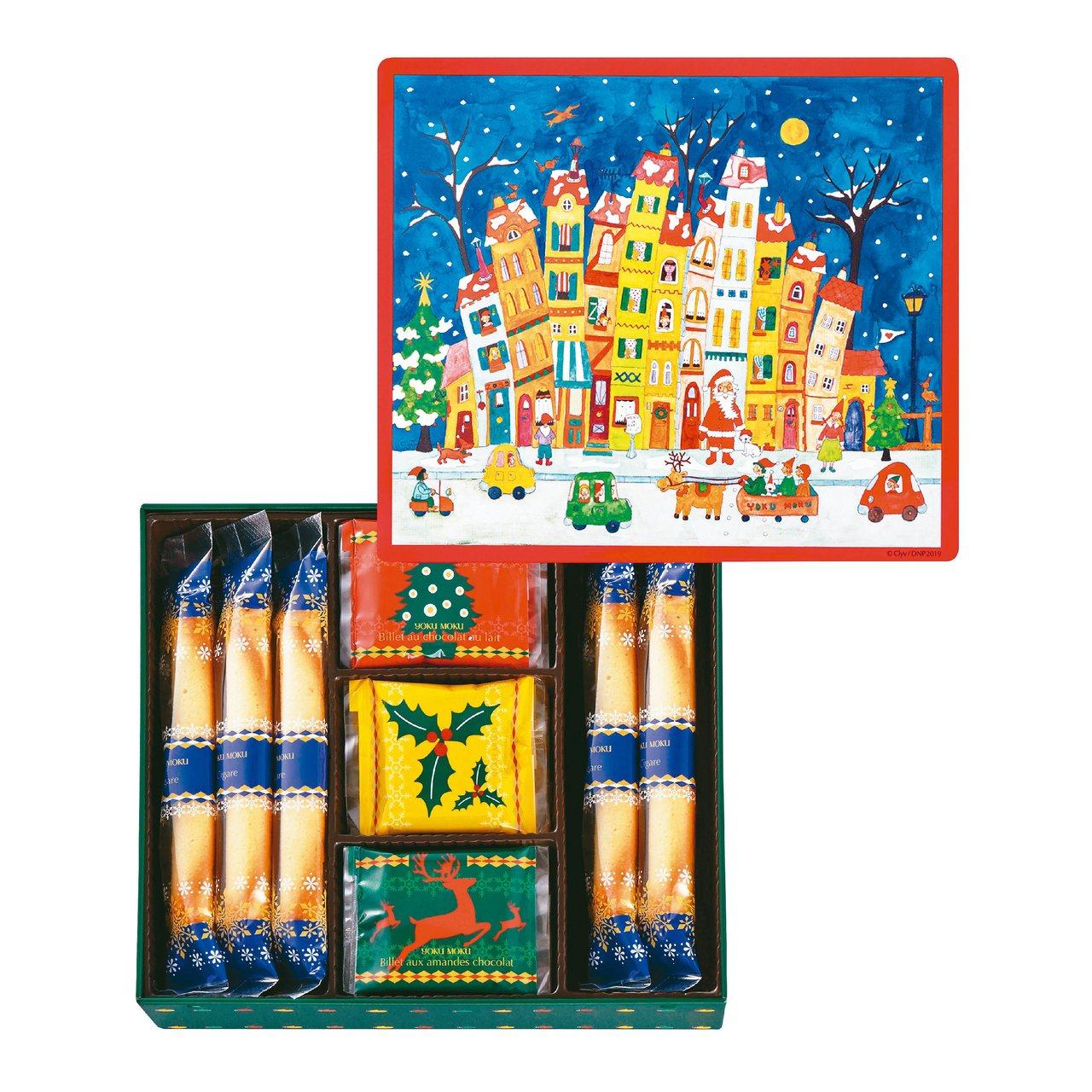YOKU MOKU與法國知名插畫家CLYV合作的兩款耶誕限定禮盒。 圖/YOKU...