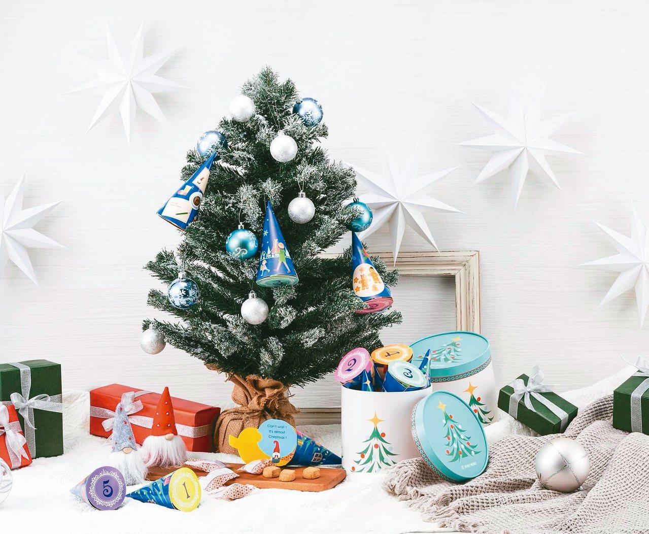 YOKU MOKU首度推出甜筒造型的耶誕倒數禮盒。 圖/YOKU MOKU提供