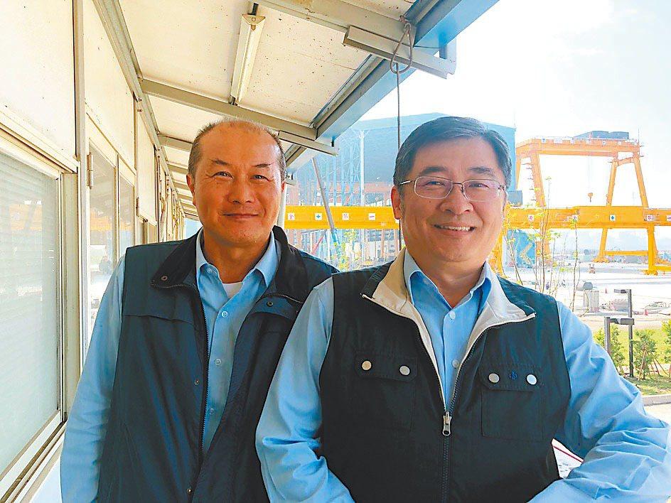興達海基公司董事長王亞洲(右) 記者林政鋒/攝影