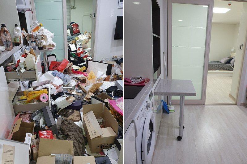 南韓一名鐘點清潔工受雇打掃恐怖垃圾屋。 圖/Naver打掃論壇