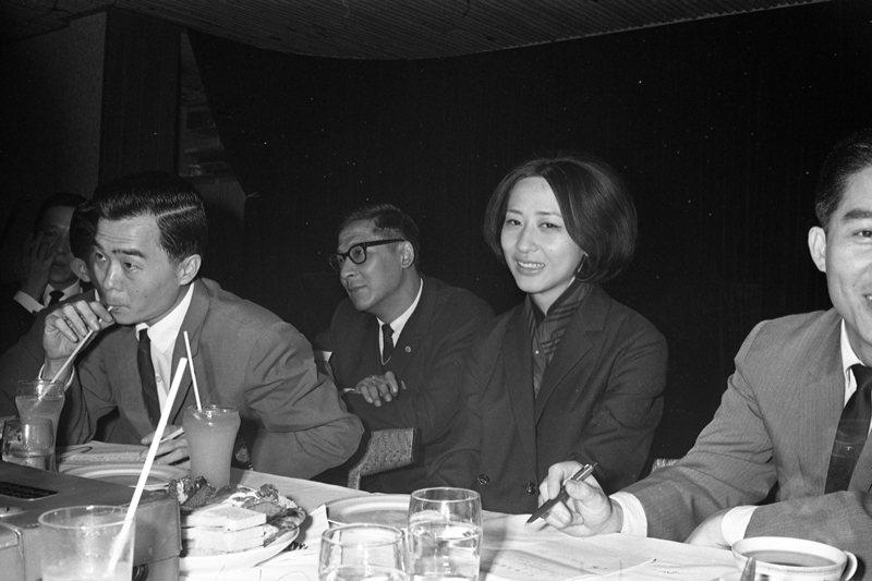 圖為導演唐書璇,1967年自香港飛抵台北開拍《董夫人》。 圖/聯合報系資料照
