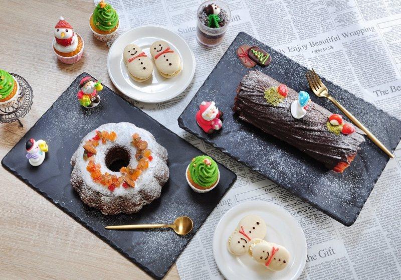 Chekcers耶誕節限定甜點,精緻繽紛,造型感十足。 業者/提供