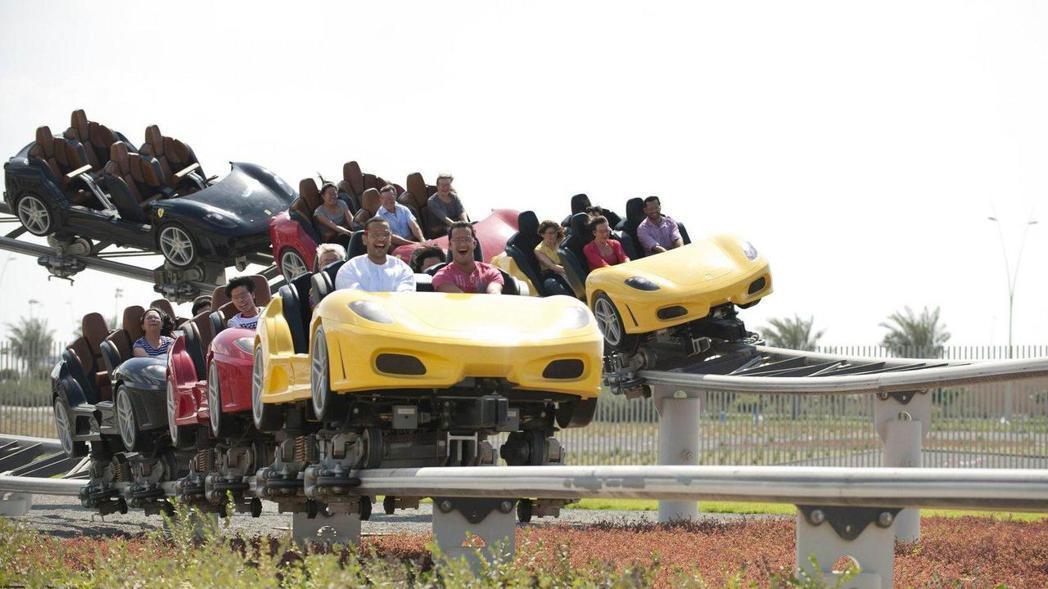 法拉利世界有全球最快的雲霄飛車。 圖/摘自Motor1.com