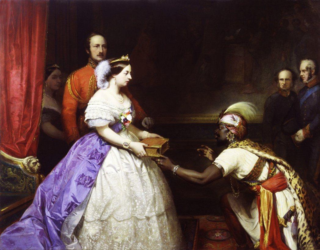 「英國偉大的秘密」——普洛特就以此畫爲例,探討當時的英國人如何看待自身與世界的關...