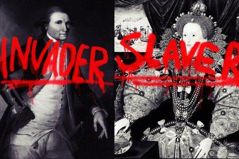 「不舒服藝術導覽」用「奴隸販子」、「小偷」等罪名指控英國歷史上最赫赫有名的人物時...