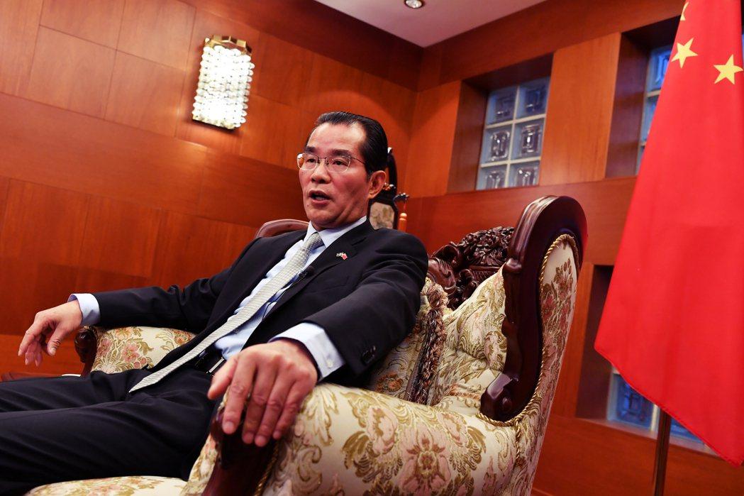 圖為中國駐瑞典大使桂從友。針對瑞典各界對於新疆人權議題的關切,桂從友呼籲瑞典社會...