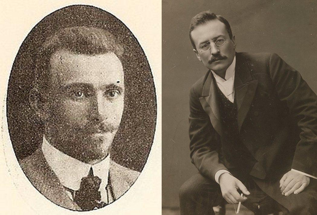 左為瑞典宣教士John Törnquist,右為歐洲與中國聞名的斯文.赫定。 圖...