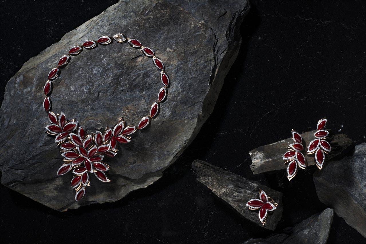 銀獎【海洋之美─阿卡珊瑚套鍊】,台灣綺麗珊瑚有限公司。