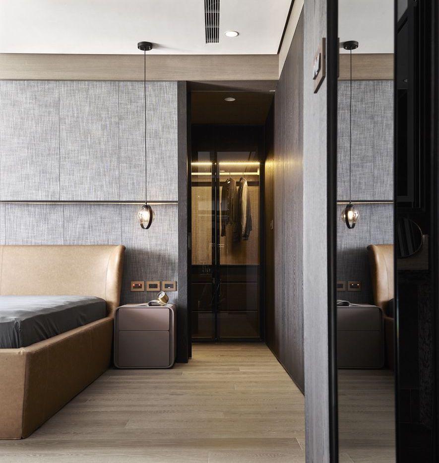 (圖)主臥室以睡眠區域為核心,向周邊延伸出換裝打理的試衣間,及洗浴 放鬆的寬敞浴...