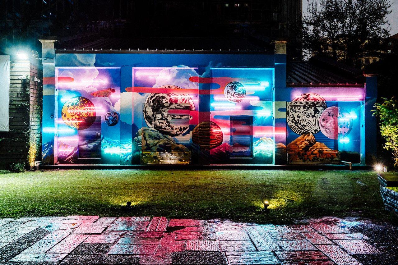 藍色隧道壁畫創作《無限rebirth》圖/松山文創園區提供