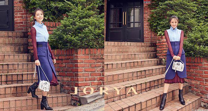 大陸女星高圓圓曾為台資女裝品牌JORYA代言。取自官網