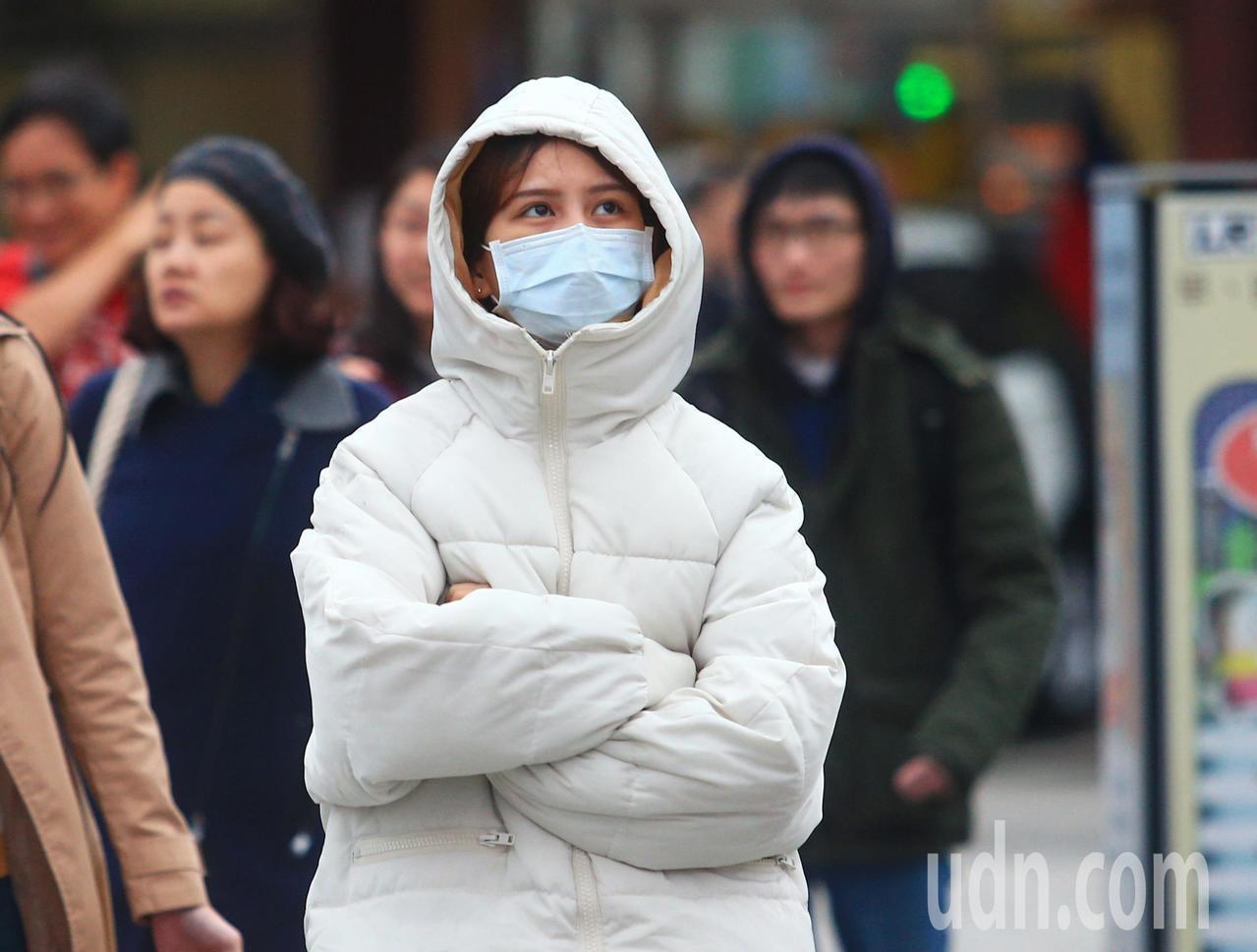入冬首波冷氣團報到,今晚到明天清晨是最冷的時間點。本報資料照片
