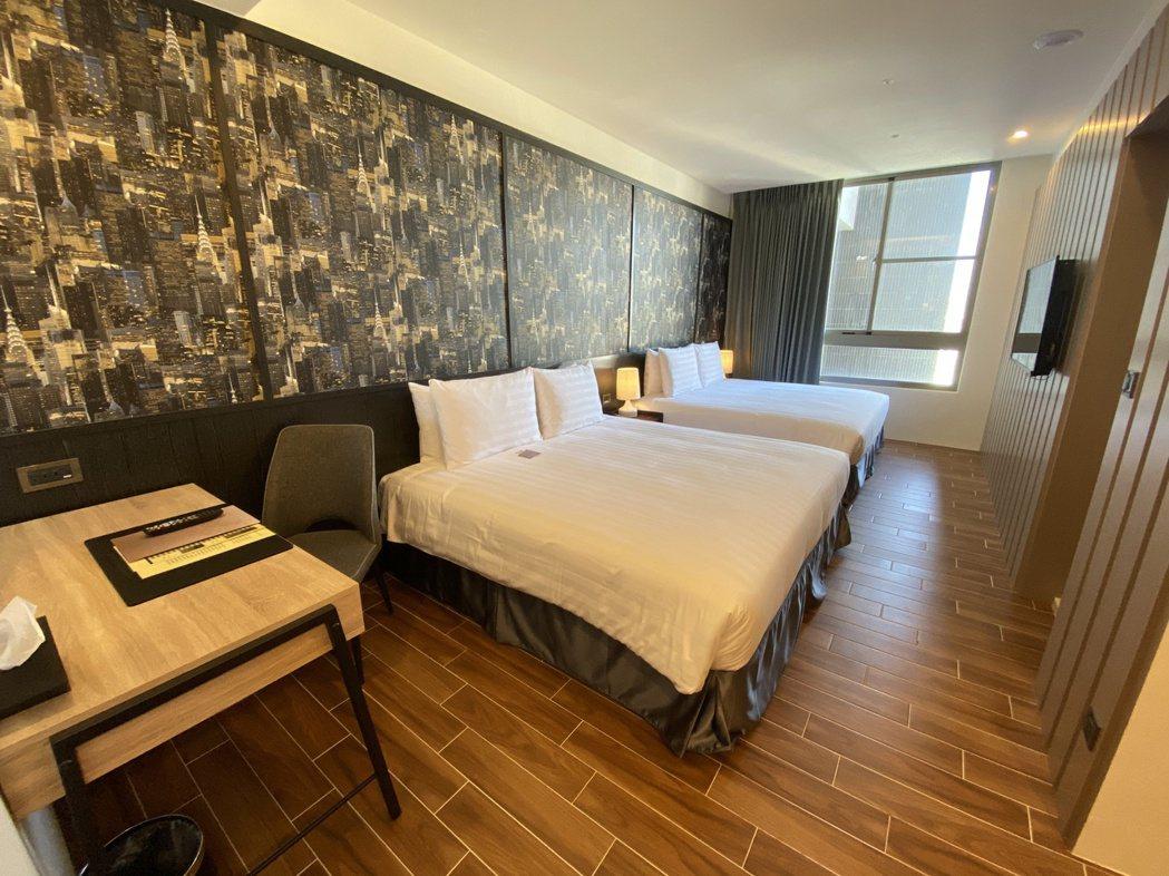 Hotel A的四人房型。記者修瑞瑩/攝影
