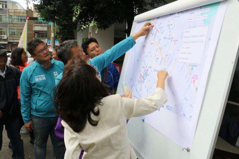 立法院副院長蔡其昌到台中市大甲區,了解自來水管線汰換工程。記者游振昇/攝影
