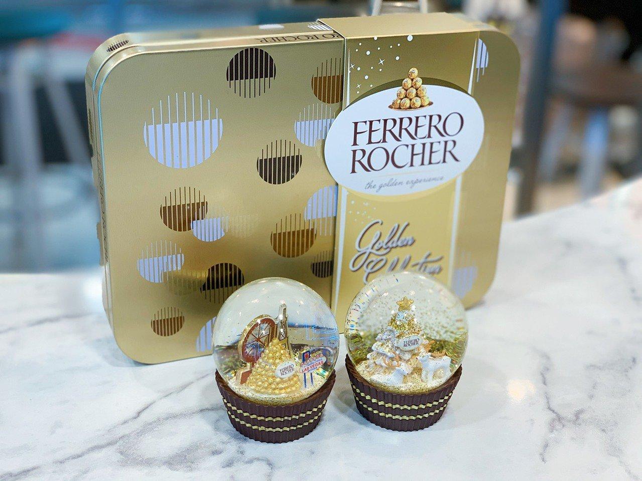今年「金莎聖誕水晶球」推出2款限定商品,吸引粉絲搶購。記者徐力剛/攝影