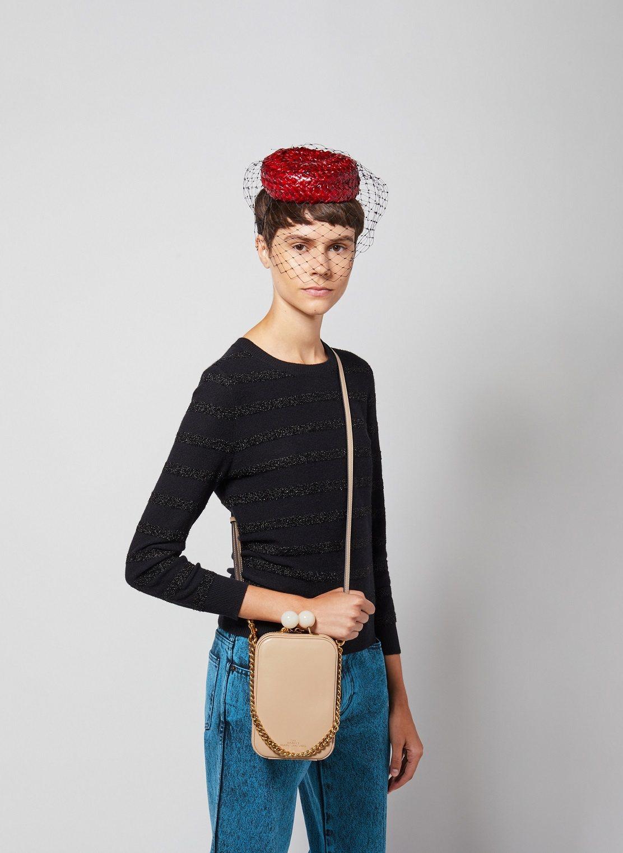 暖柔沙復古長型圓珠釦包,22,900元。圖/Marc Jacobs提供