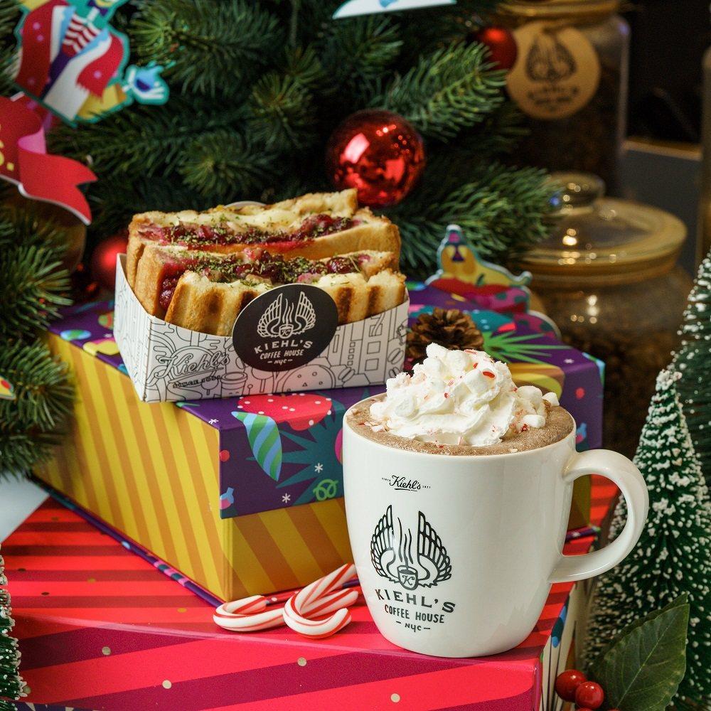 Kiehls Coffee House推出耶誕限定餐點。圖/Kiehls提供