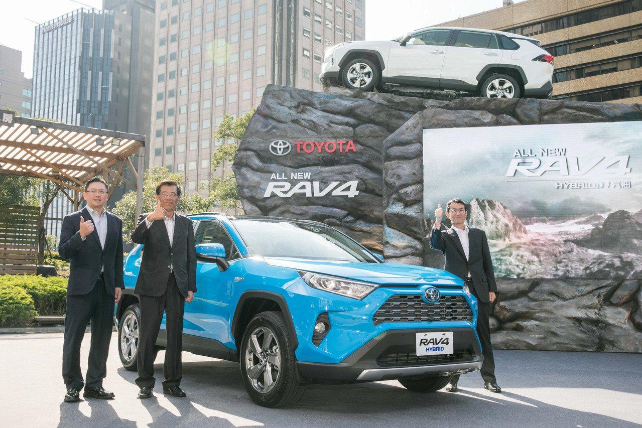銷售熱門神車RAV4,11月銷售台數達3531台。業者提供