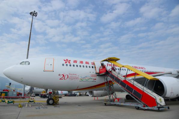 被告知可能撤銷牌照,香港航空回應,目前營運正常。(香港航空官網)