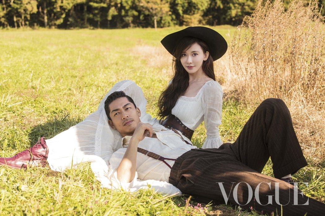 林志玲去年決定嫁給AKIRA。圖/VOGUE提供