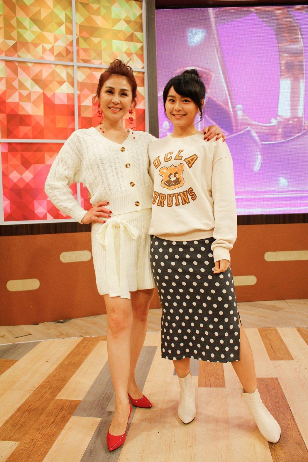 梁佑南(左)和女兒方琦日前上衛視「一袋女王」。圖/衛視提供
