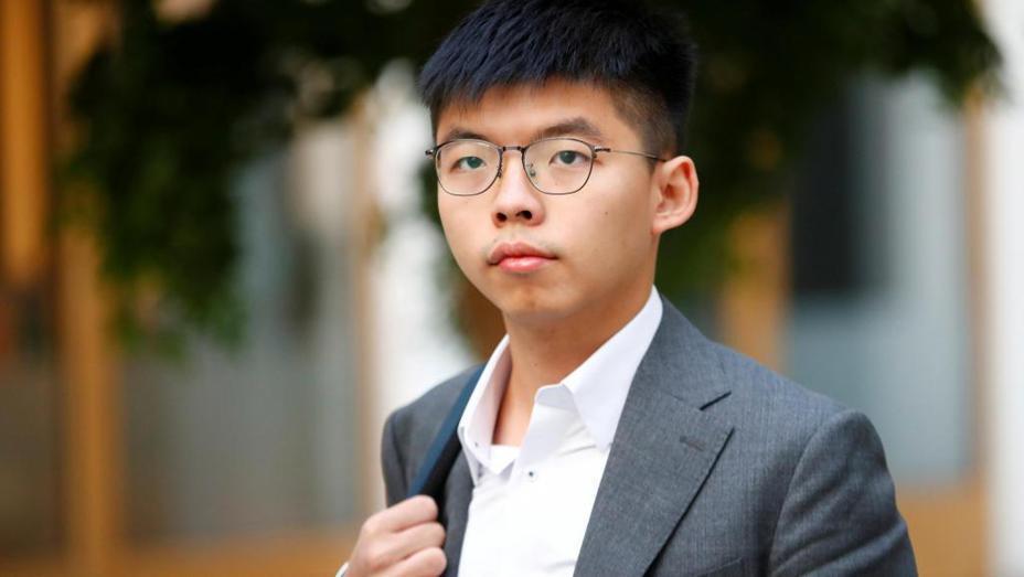 香港眾志秘書長黃之鋒。 圖/取自路透社