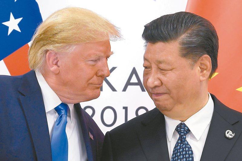 美國總統川普簽署「香港人權與民主法案」觸怒大陸,北京2日祭出制裁措施,增添美中貿易磋商變數。 (美聯社)