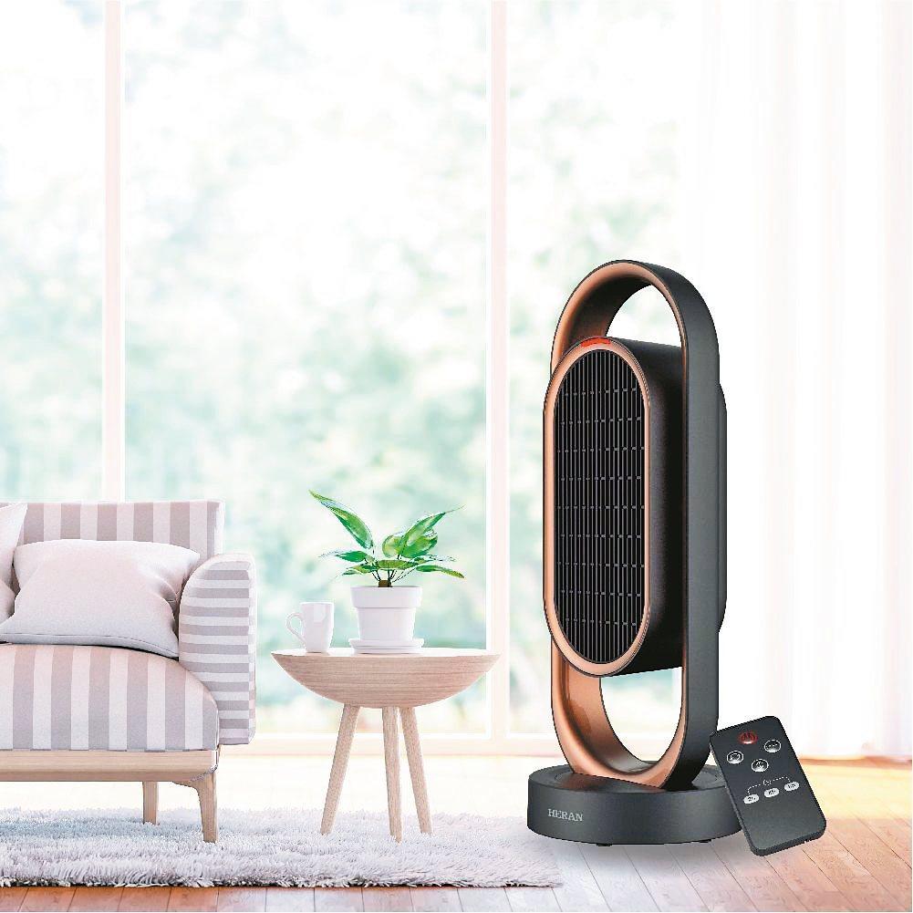 禾聯碩推出功能及外觀兼備,極具設計美感的陶瓷式電暖器。 圖/禾聯碩提供