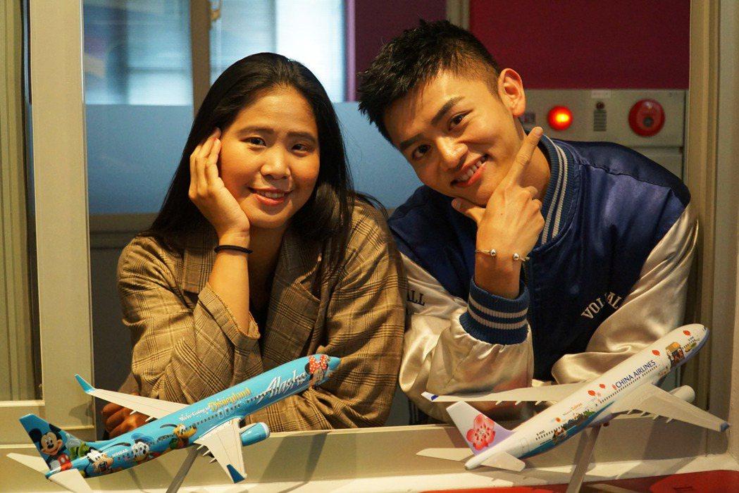 李家人(左)與洪焌翔(右),都是在大葉大學空勤培訓中心的輔導下圓夢。 大葉大學/...