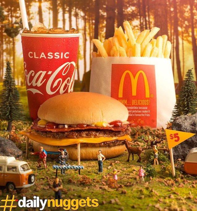 麥當勞雖然出餐快速方便,但套餐卻不適合邊逛街邊吃。圖擷自mcdonaldsau