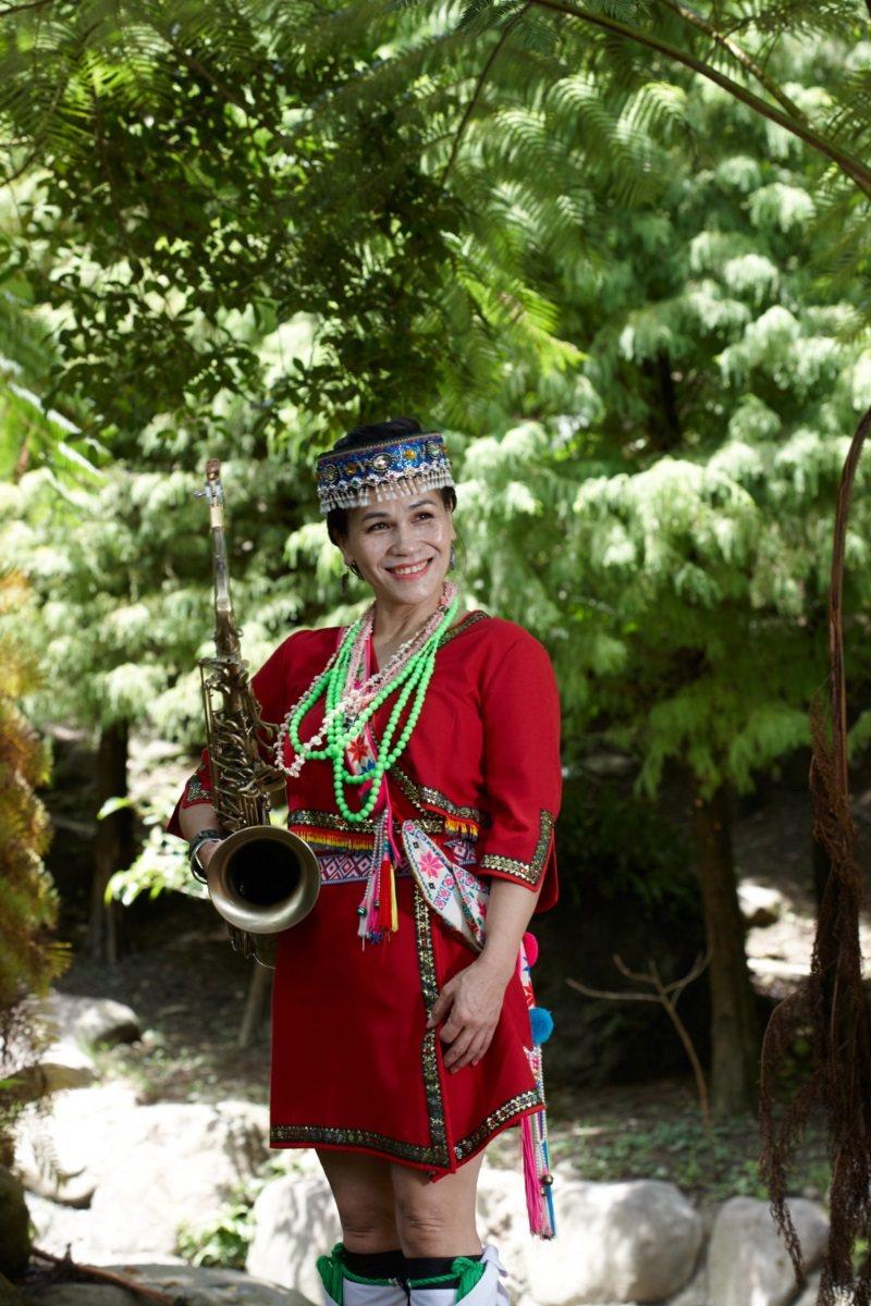 古秀琴熱愛吹奏薩克斯風,用音樂療癒自己以及聽眾。 圖/胡笙音樂藝術中心提供