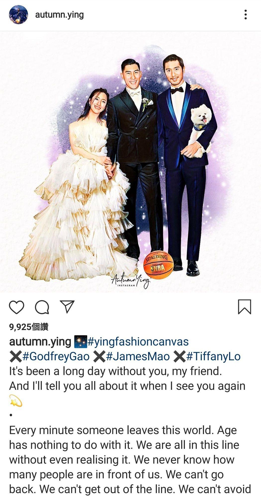 有插畫家繪畫出高以翔現身毛加恩婚禮的圖畫。 圖/擷自IG
