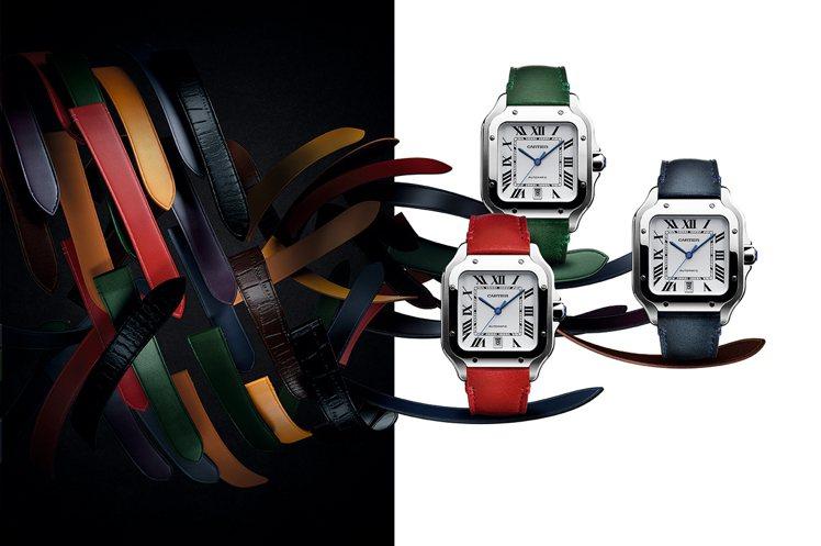卡地亞Santos de Cartier腕錶,具備新一代「QuickSwitch...