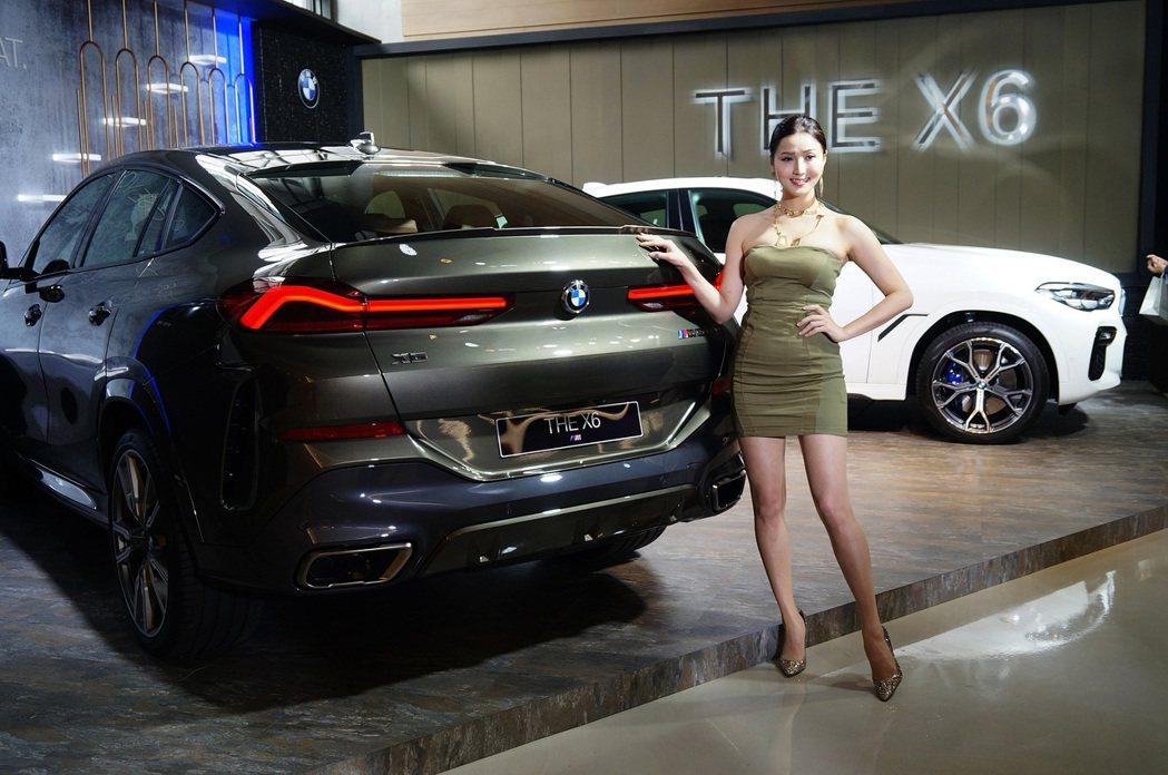 全新BMW X6 延續狂野性能與美型跑旅的產品特色。 記者趙駿宏/攝影