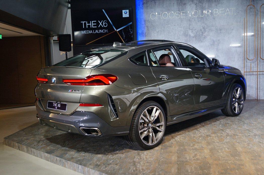 車高則是微幅降低了6mm,也讓這一代X6視覺上更低趴。 記者趙駿宏/攝影