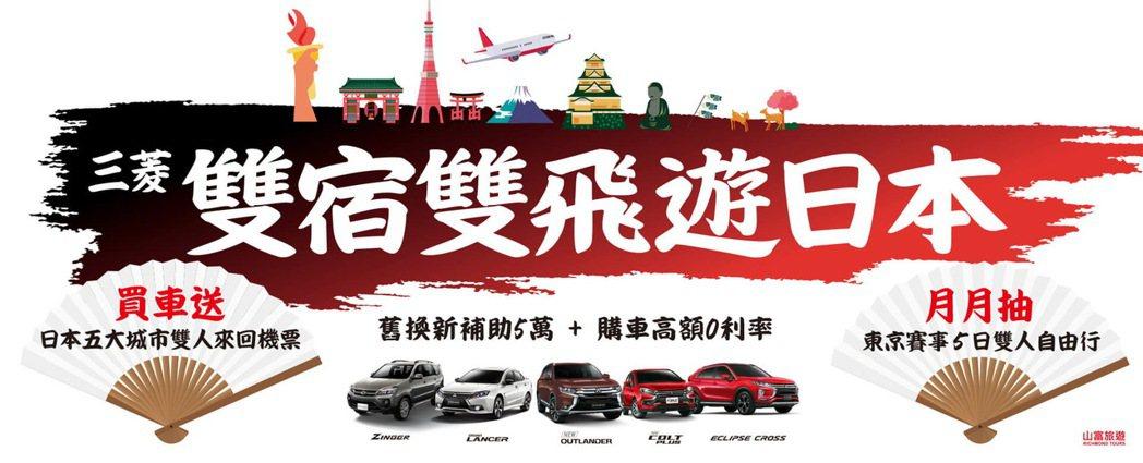 中華三菱推出『雙宿雙飛遊日本』,凡本月底前購買(需完成訂車且領牌) COLT P...