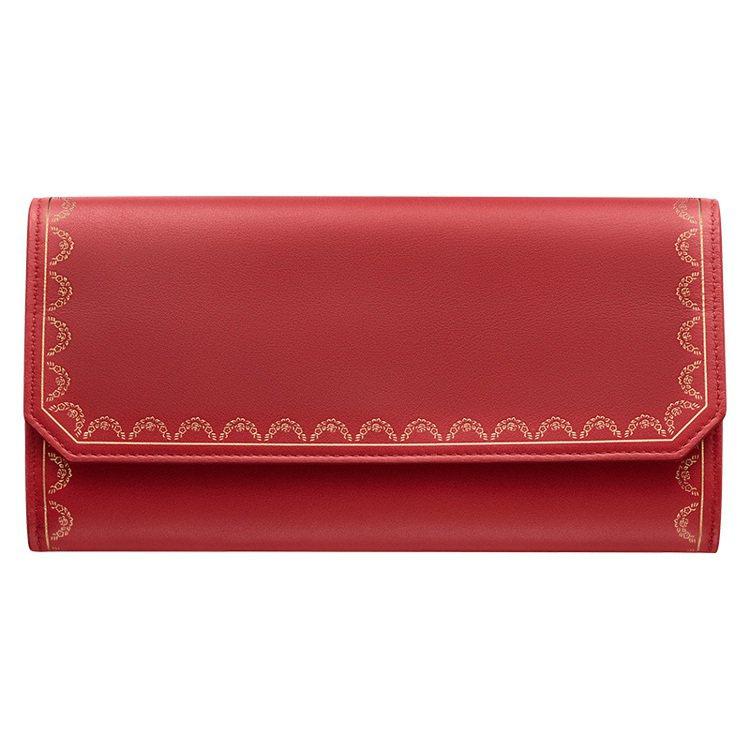卡地亞,Guirlande de Cartier紅色長夾,另有綠色款式,皆為約1...