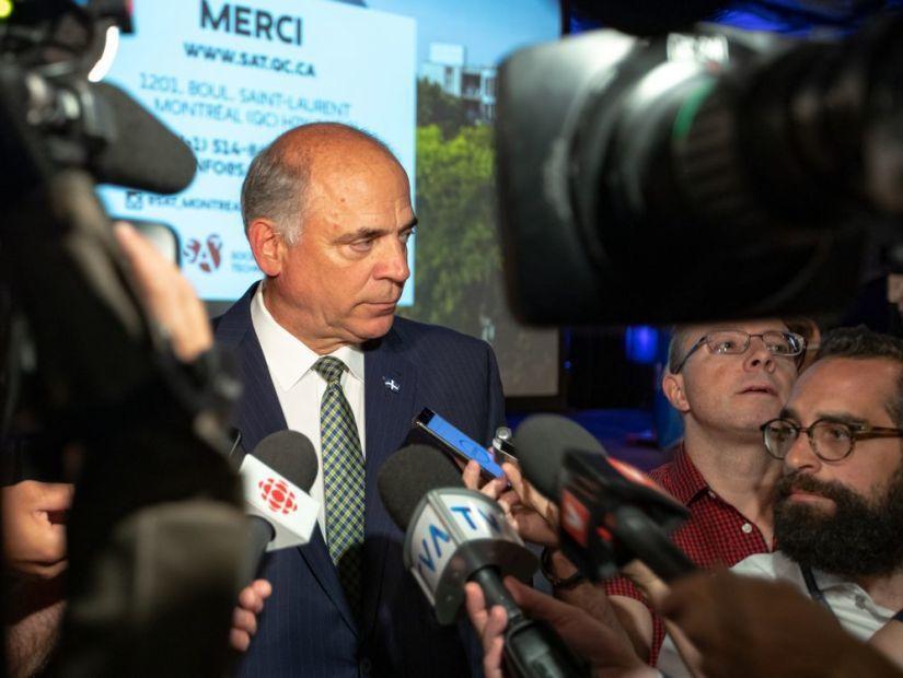 ▲魁北克經濟創新部長皮耶.費茲吉朋(Pierre Fitzgibbon)則宣佈魁...