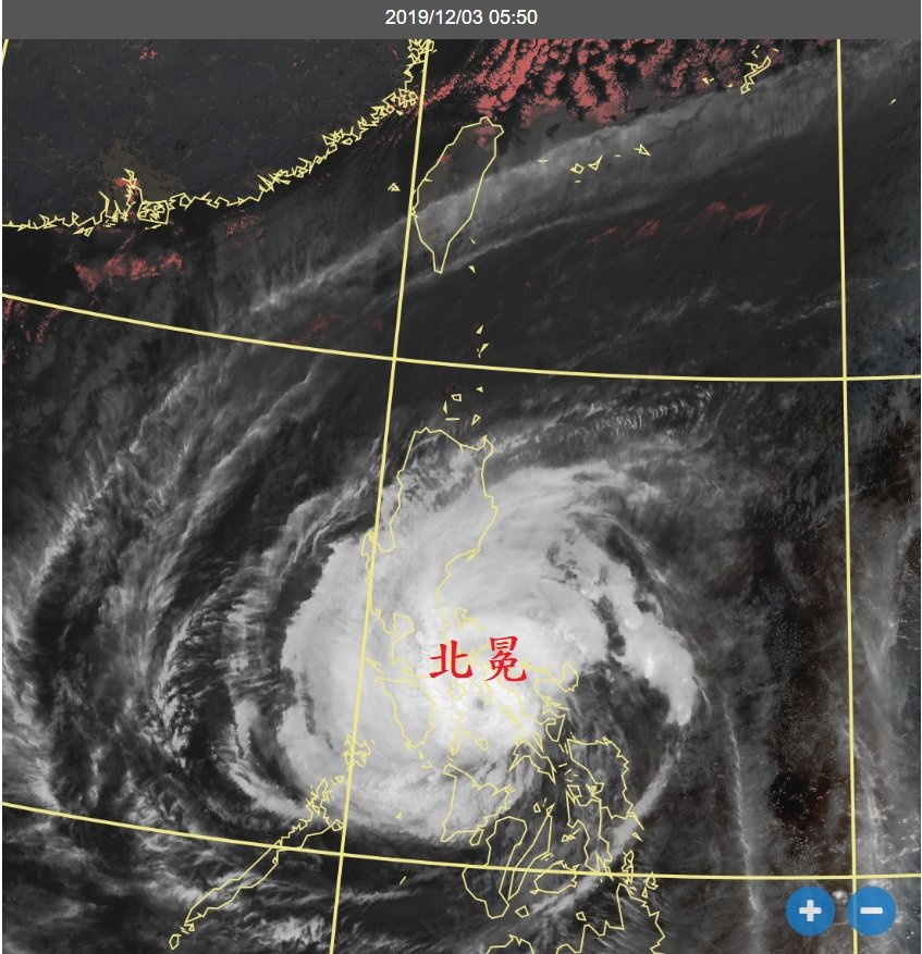 今年第28號颱風北冕。圖/取自鄭明典臉書