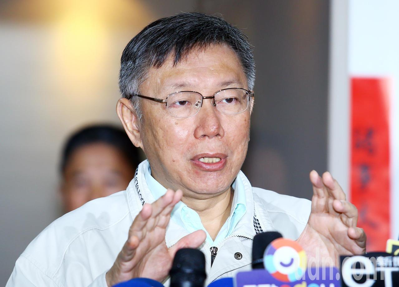 柯文哲說,要不是香港問題,這次選舉蔡英文一定很難選。記者杜建重/攝影