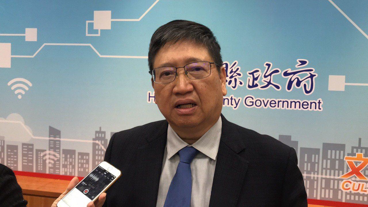 新竹縣長楊文科今天表示,造成新竹縣空氣品質威脅的污染源,有76.7%是來自境外污...