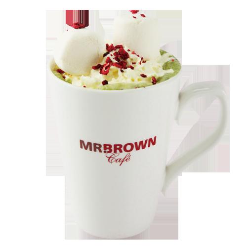 「抹茶白摩卡」12月7日前嚐鮮價每杯120元。圖/伯朗咖啡提供