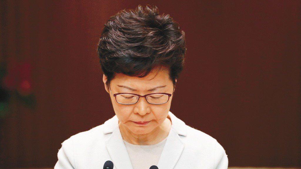 香港特首林鄭月娥。 報系資料照
