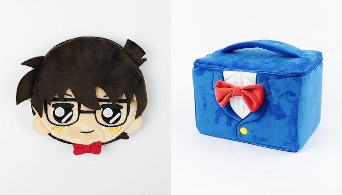 名偵探柯南日式攜式面紙零錢包(左)、日版手提化妝包(右)。圖/曼迪傳播提供