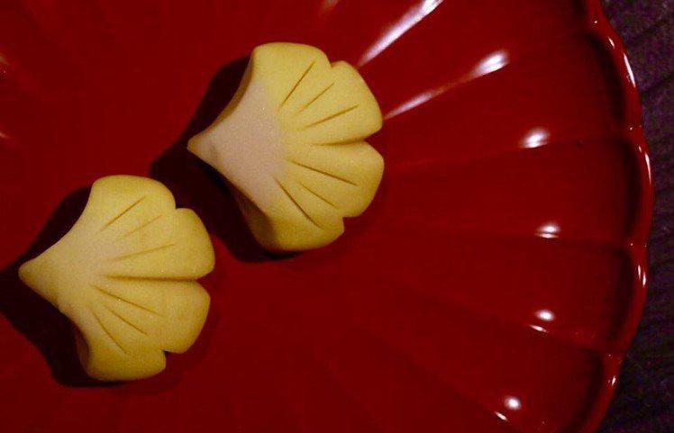 季節菓子:銀杏。圖/滋養製菓 提供