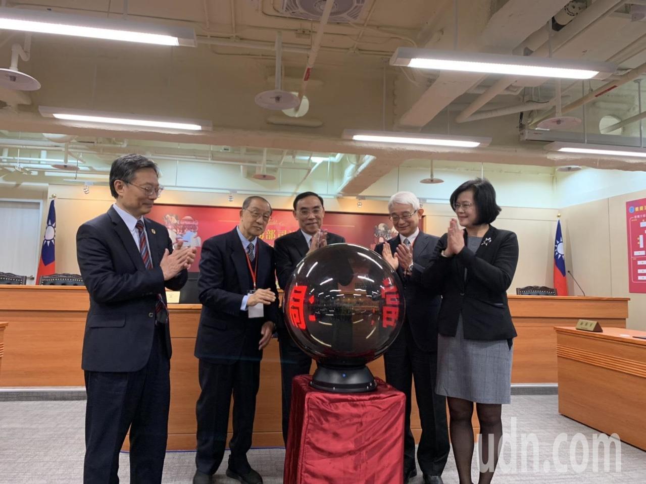 司法官學院今舉行第二辦公室啟用典禮。記者賴佩璇/攝影。