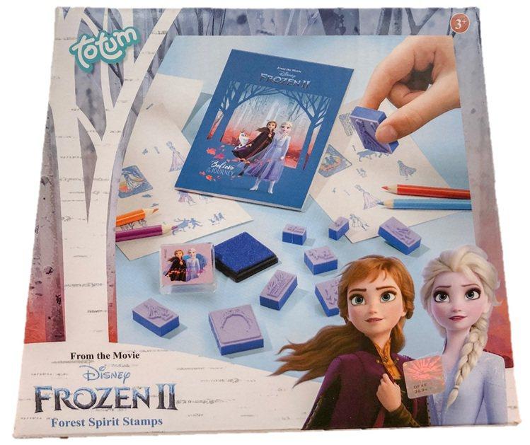 「冰雪奇緣2」手作系列-印章組,售價299元。圖/全家便利商店提供