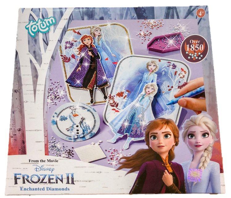 「冰雪奇緣2」手作系列-鑽貼畫組,售價299元。圖/全家便利商店提供